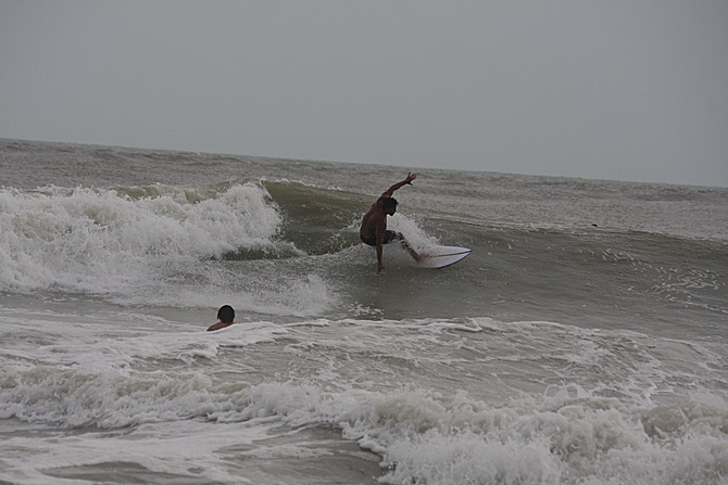 West Central Florida Gulf Surf Report Photography. Featuring photographs from standout surfing spots along the Gulf Coast. Photo taken and posted on June 08 2020, 17:41