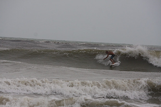 West Central Florida Gulf Surf Report Photography. Featuring photographs from standout surfing spots along the Gulf Coast. Photo taken and posted on June 08 2020, 17:54